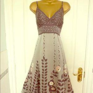Gorgeous Ted Baker Silk Dress Size 3